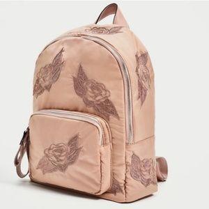 ZARA Light Pink Backpack